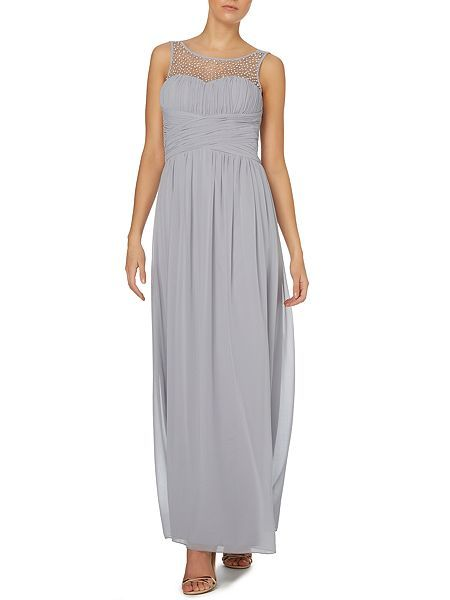 Beaded top maxi dress