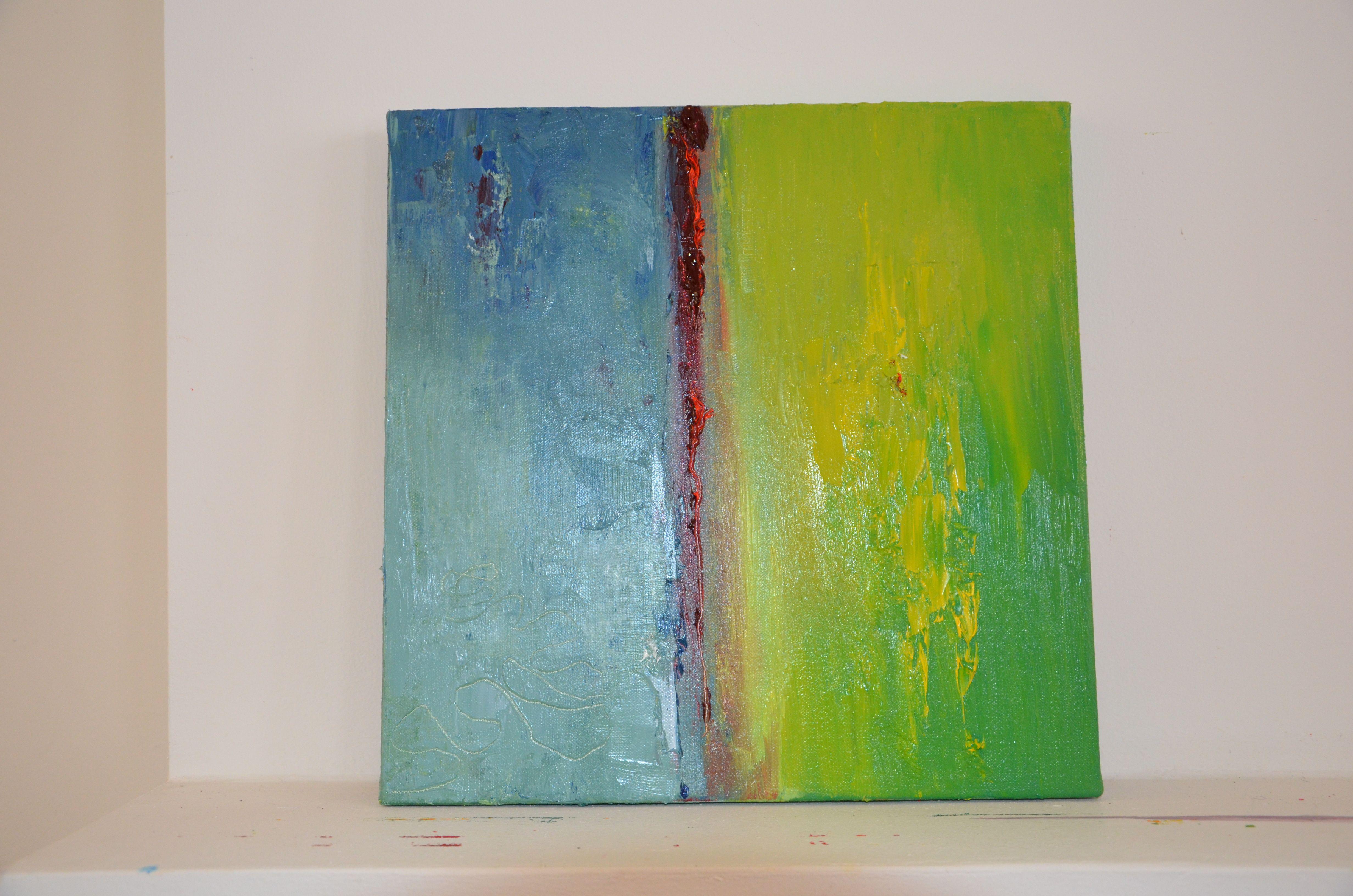 peinture à l'acrylique réalisée aux ateliers d'Emma