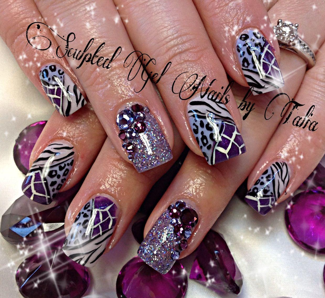 Purple Zebra Leopard Print Nail Art Nails Things I Love