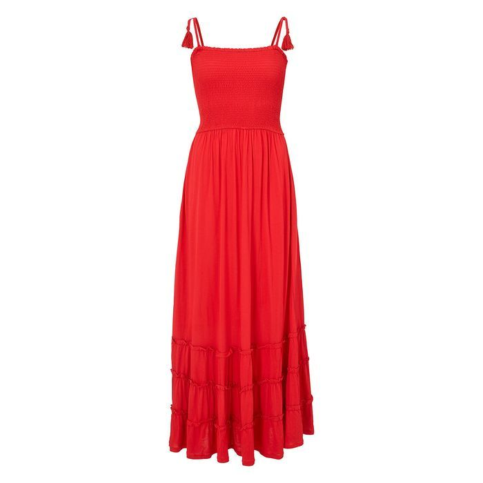 9ae36f9af89 John Lewis & Partners Bandeau Jersey Maxi Dress, Tomato in 2019 | I ...