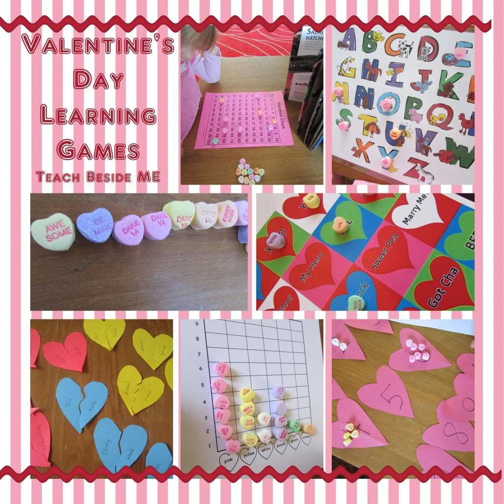 Candy Heart Learning Games Amp Printable