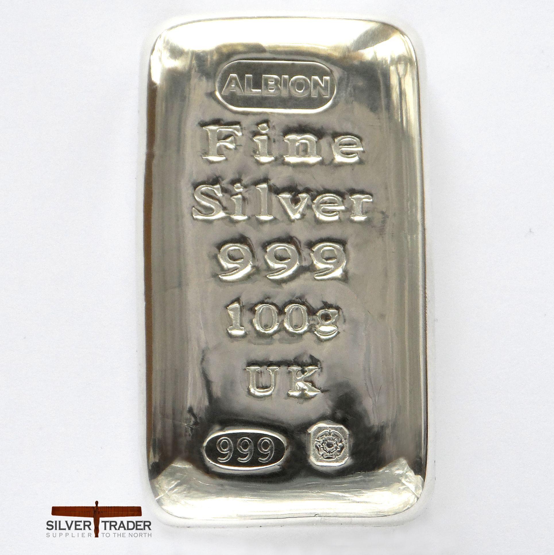 2020 Albion 100 Gram Trademarked 999 Silver Bullion Bar Silver Bullion Silver Bullion Coins Bullion