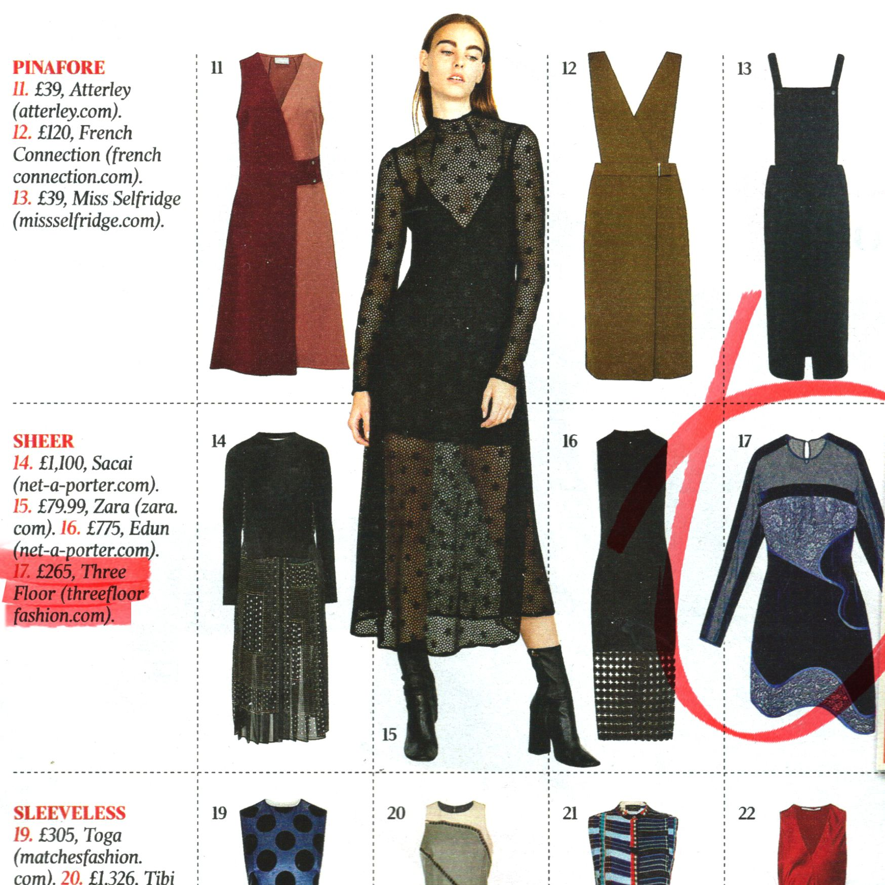 The Times Magazine featuring AW15 Blue Steel Dress