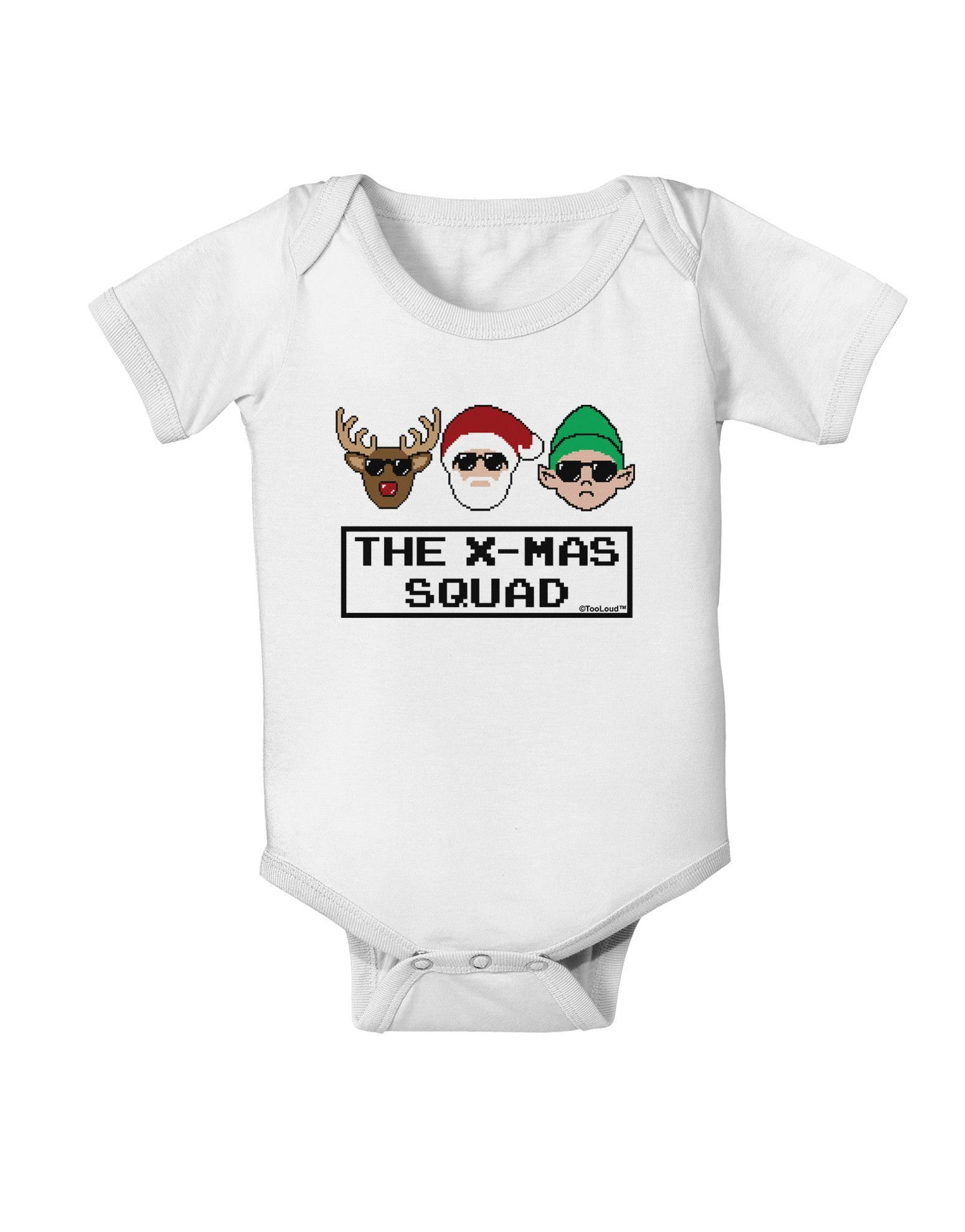 645eb1722933 The X-mas Squad Text Baby Romper Bodysuit