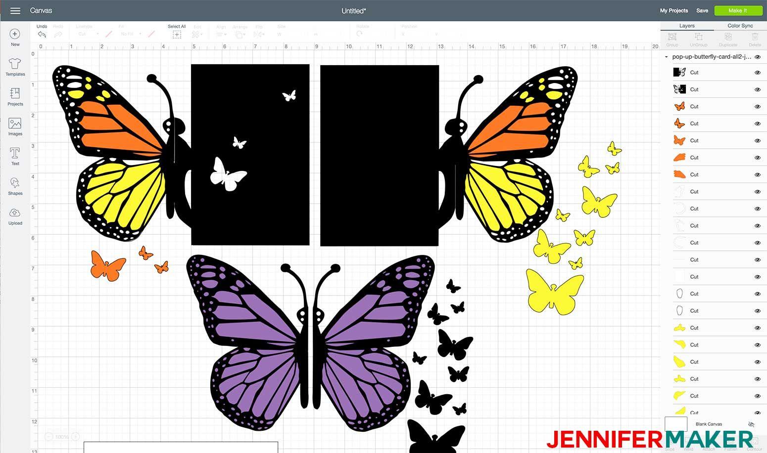 Easy Butterfly Card Diy Pop Up Tutorial Jennifer Maker Butterfly Cards Fun Fold Cards Cards