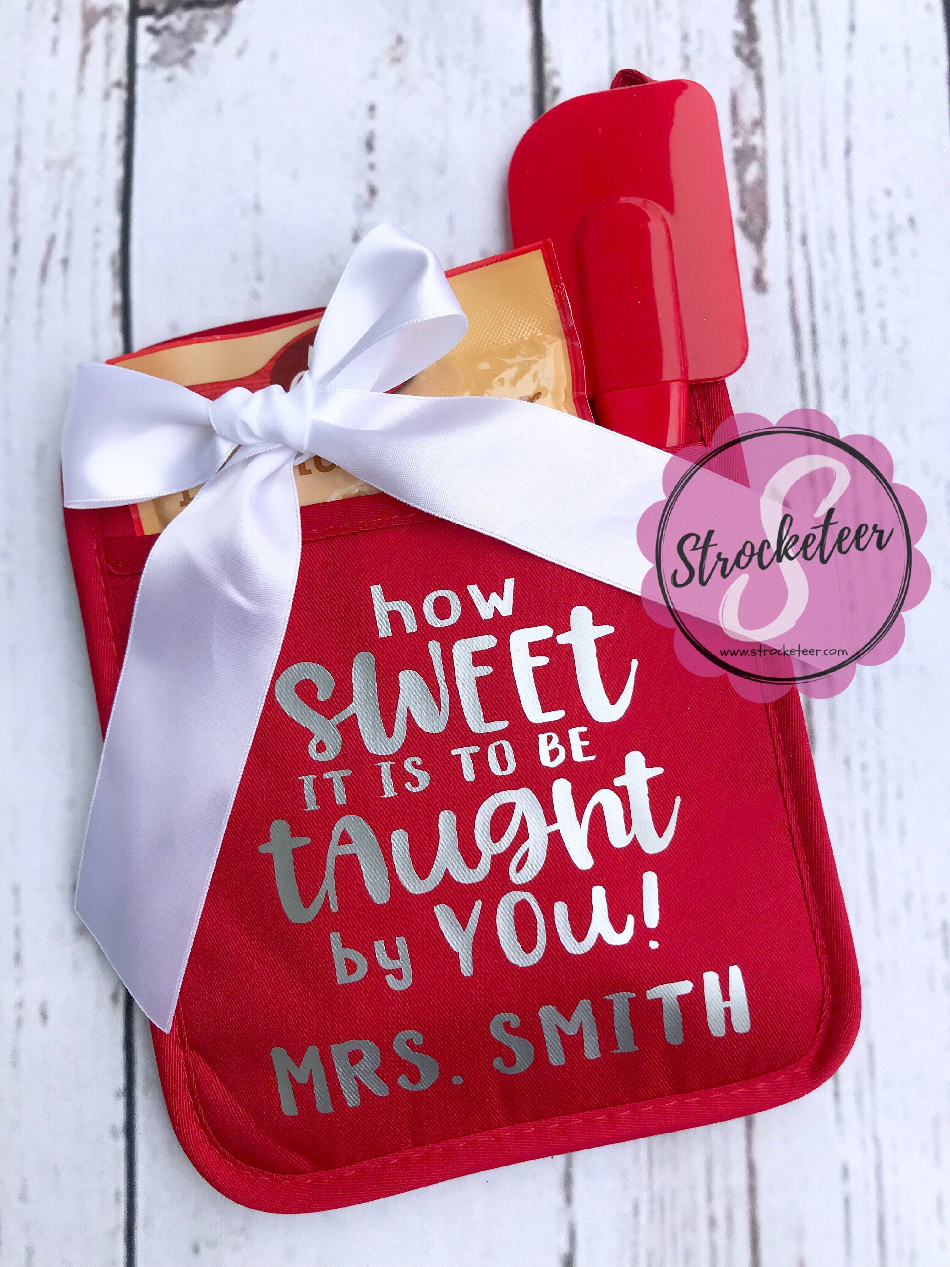 How Sweet It Is To Be Taught By You Potholder Gift Set