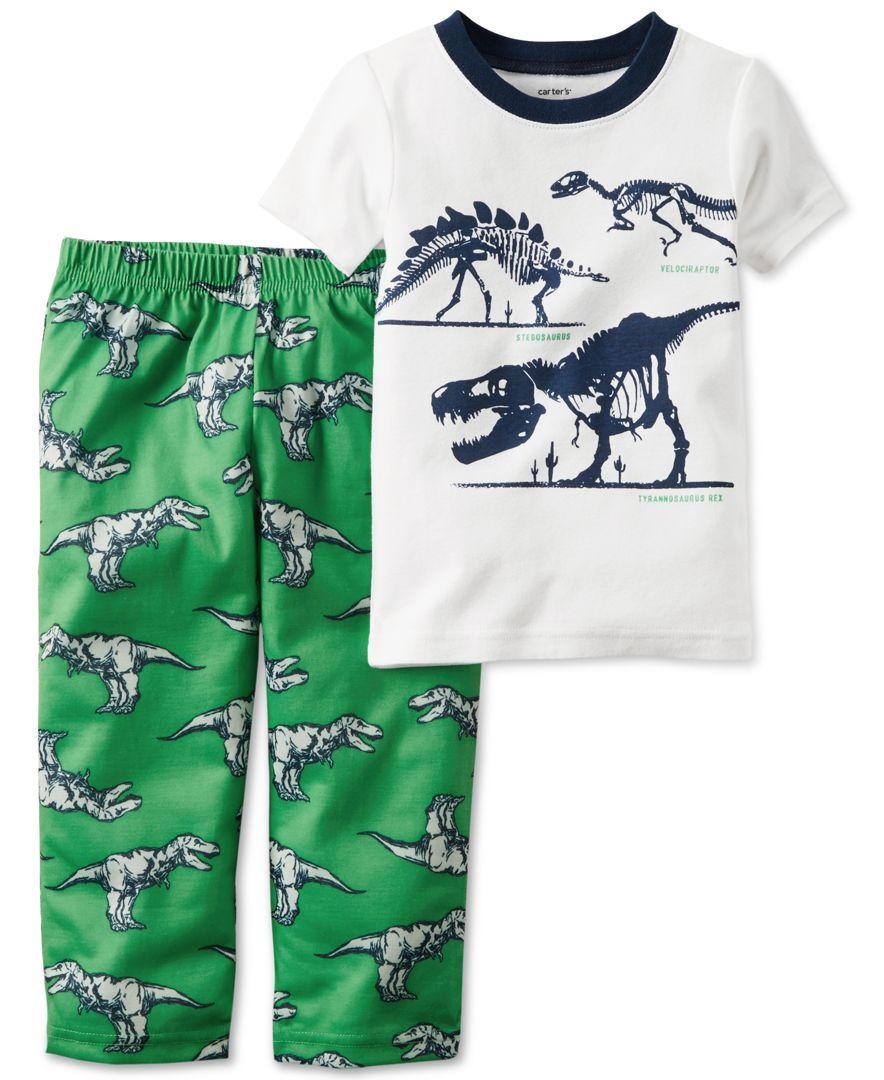 a014828bd Carter s Toddler Boys  2-Pc. Dinosaur T-Rex Pajama Set