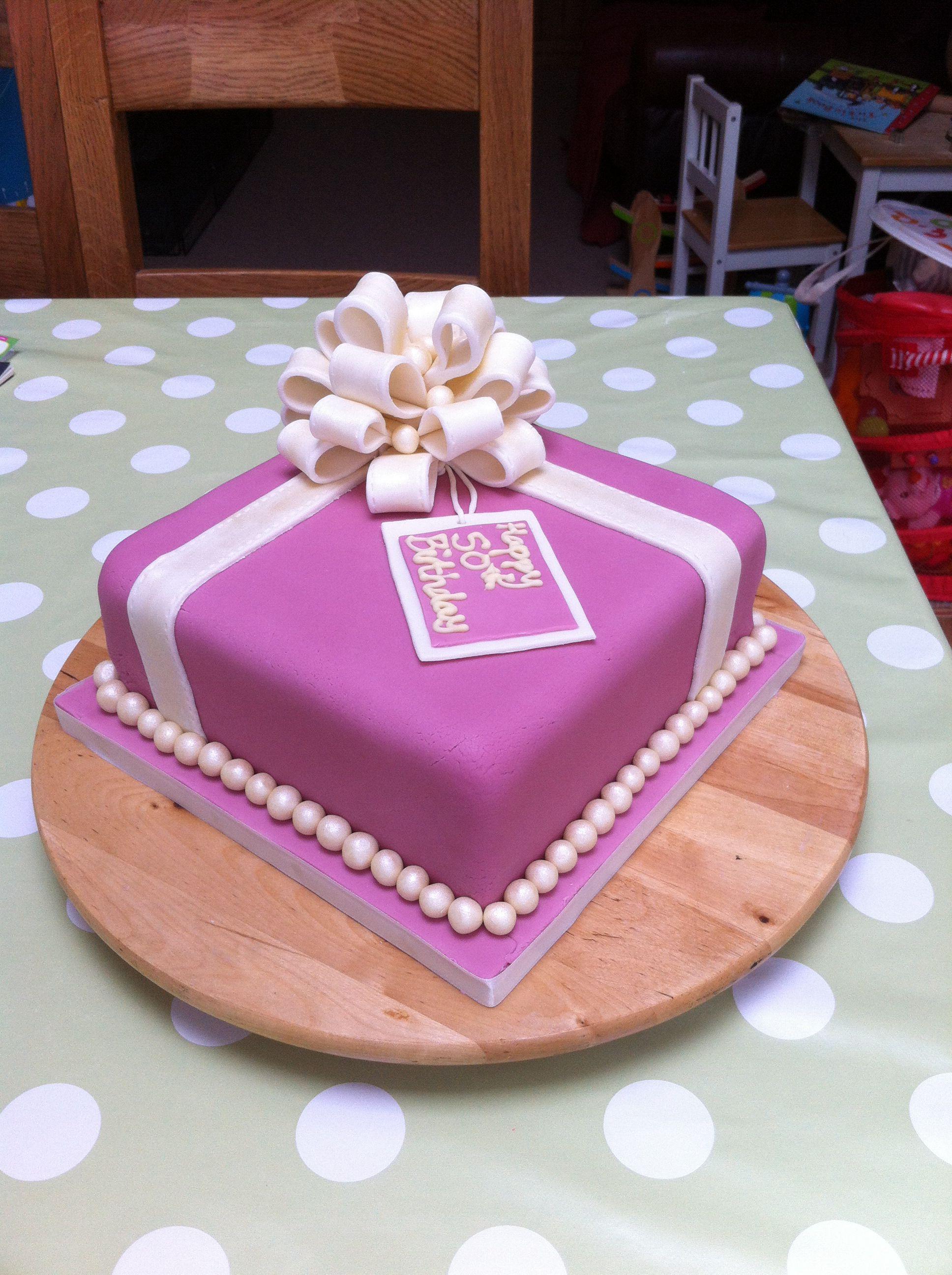 50th birthday cake 50th birthday cake, Fondant cakes