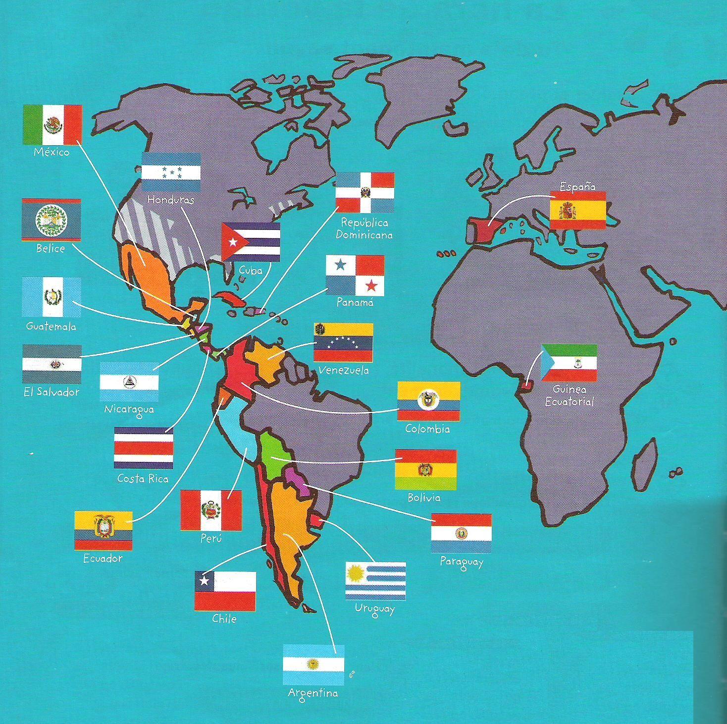 Banderas How To Speak Spanish Elementary Spanish Spanish Culture