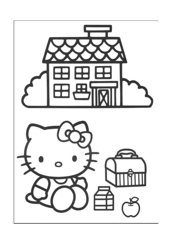 Ausmalbilder Hello Kitty 26 | Kreative Mädchen | Pinterest ...