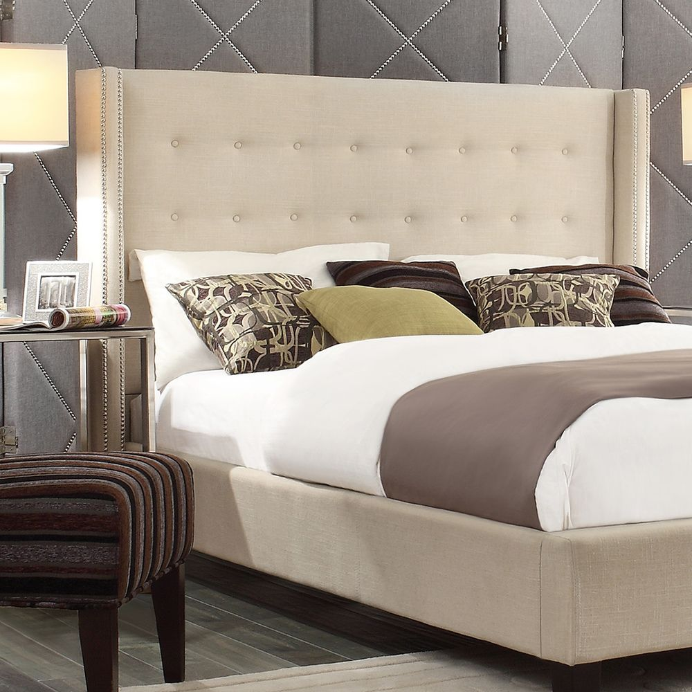 INSPIRE Q Marion Nailhead Wingback Tufted Queen-sized Headboard -  Overstock Shopping - Big