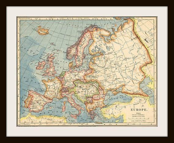 EUROPE Antique Map Maps Maps Maps Pinterest Antique - Buy map posters