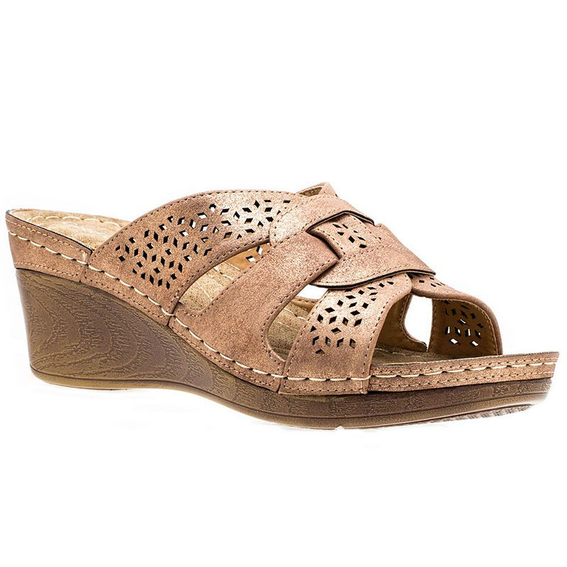GC Shoes Odelia Womens Wedge Sandals