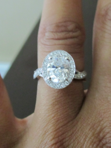1 6 Carat Oval Cut Diamond In A Platinum Four Prong Micro
