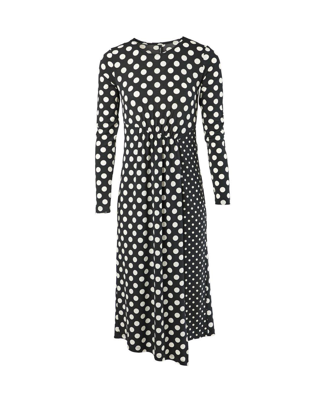 Vestido punto topos combinados - Vestidos  4cf03648e7be