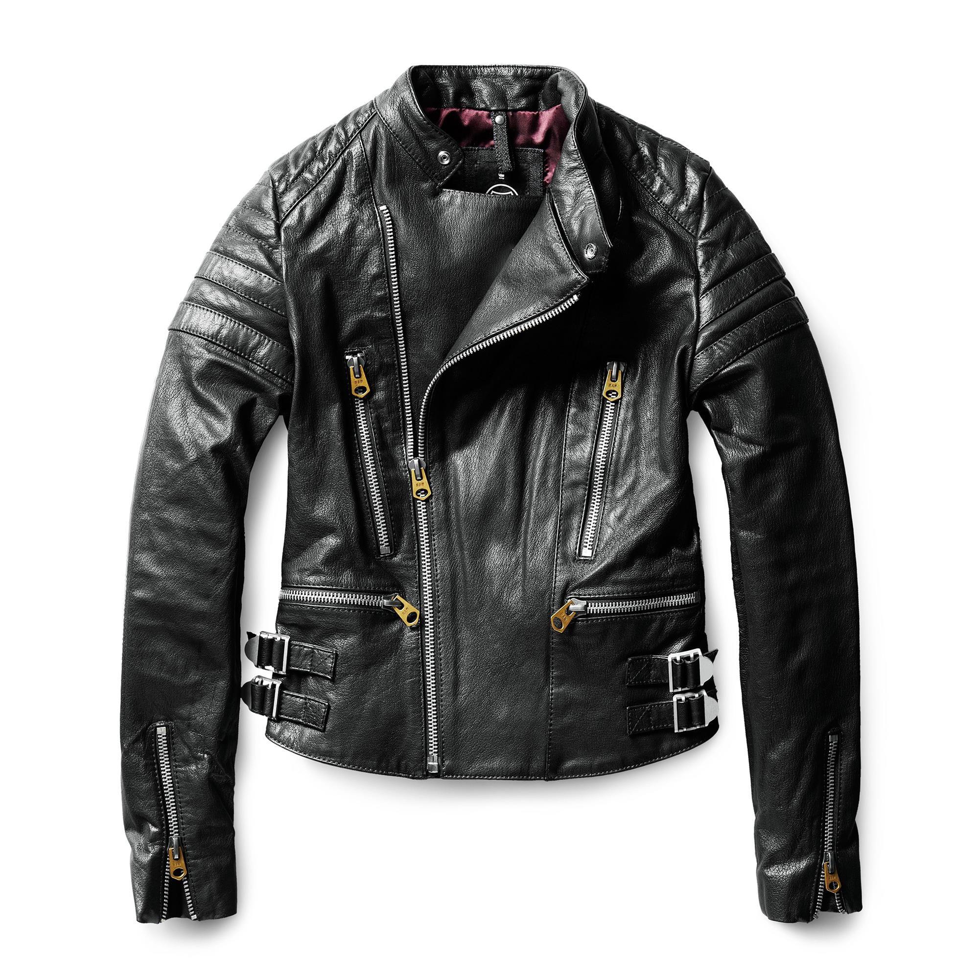 Biker Solid Leather Slim Jacket Black G Star Raw Black Biker Jacket G Star Jackets [ 2000 x 2000 Pixel ]