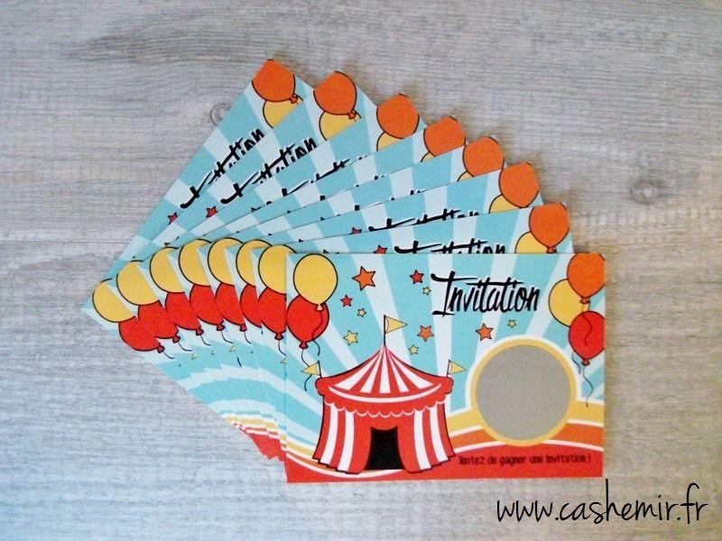 invitation anniversaire cirque garcon
