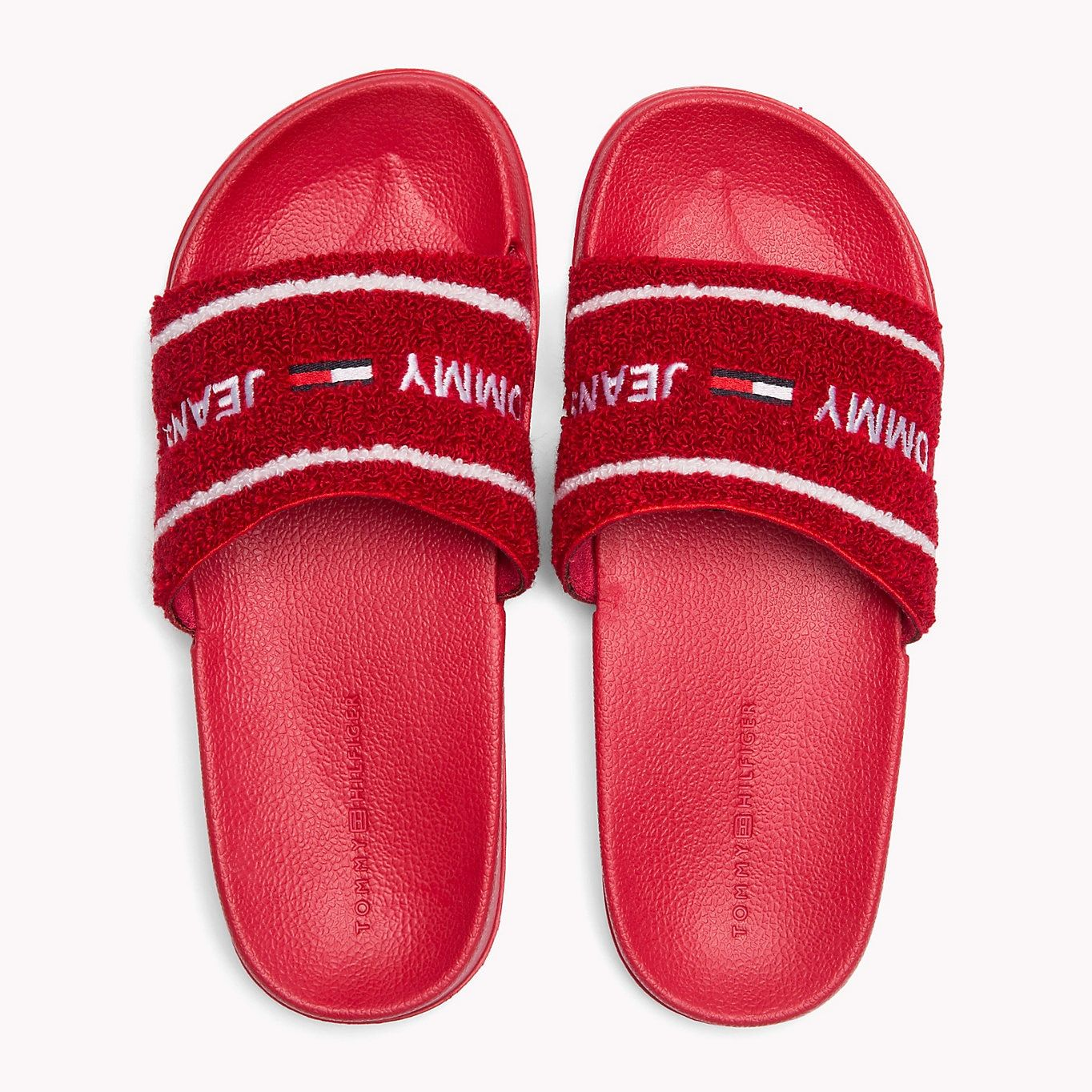 de69a15495da3 TOMMY JEANS Embroidered Terry Beach Sliders - TOMMY RED - TOMMY JEANS Women  - detail image 3