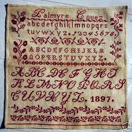 redwork sampler 1897