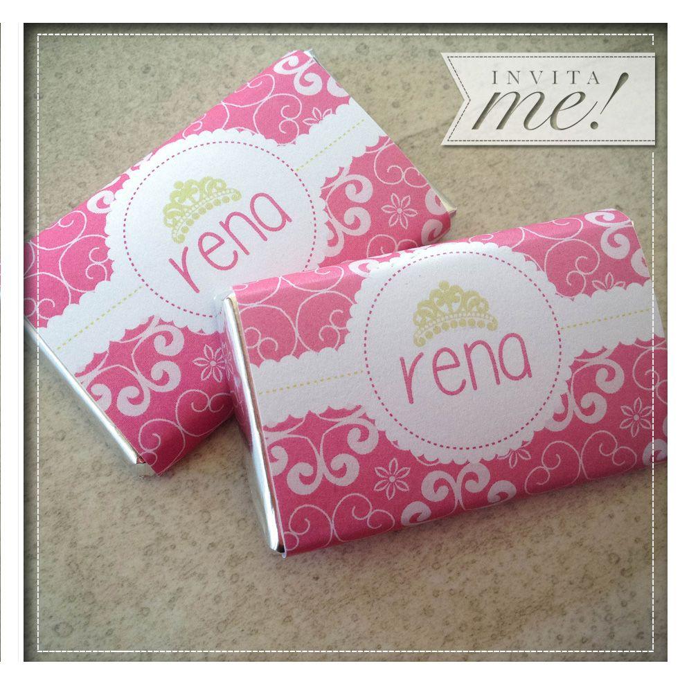 Chocolatines personalizados. Pedilos a hola@invita-me.com.ar