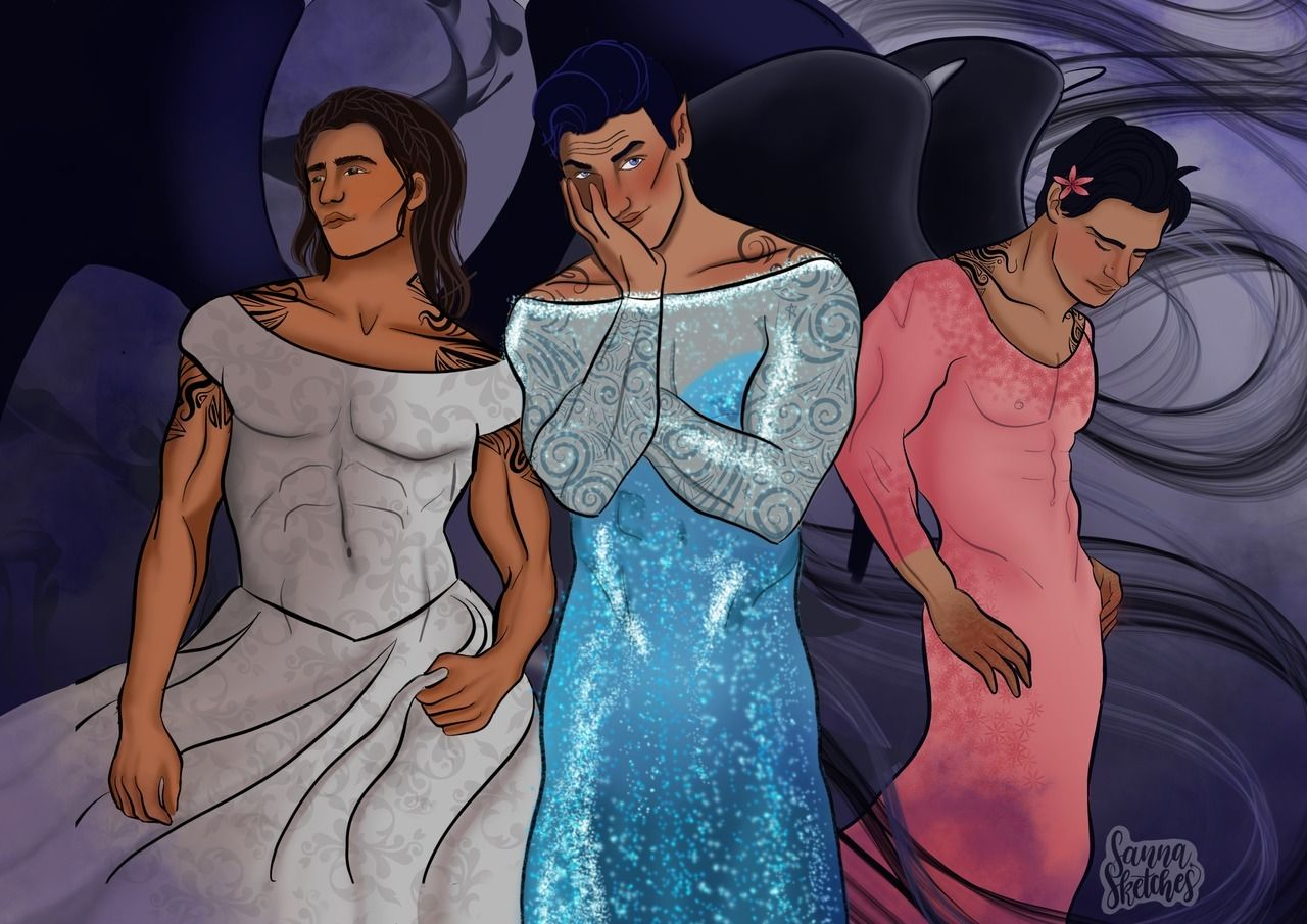 Cassian Rhysand And Azriel In Nesta Feyre And Elain S Dresses
