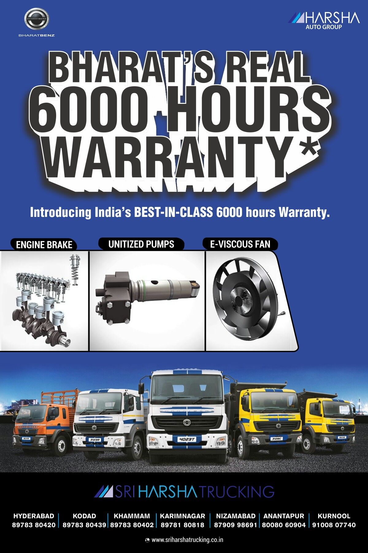 We bring to you our 6 years warranty, the best-in-class in India to