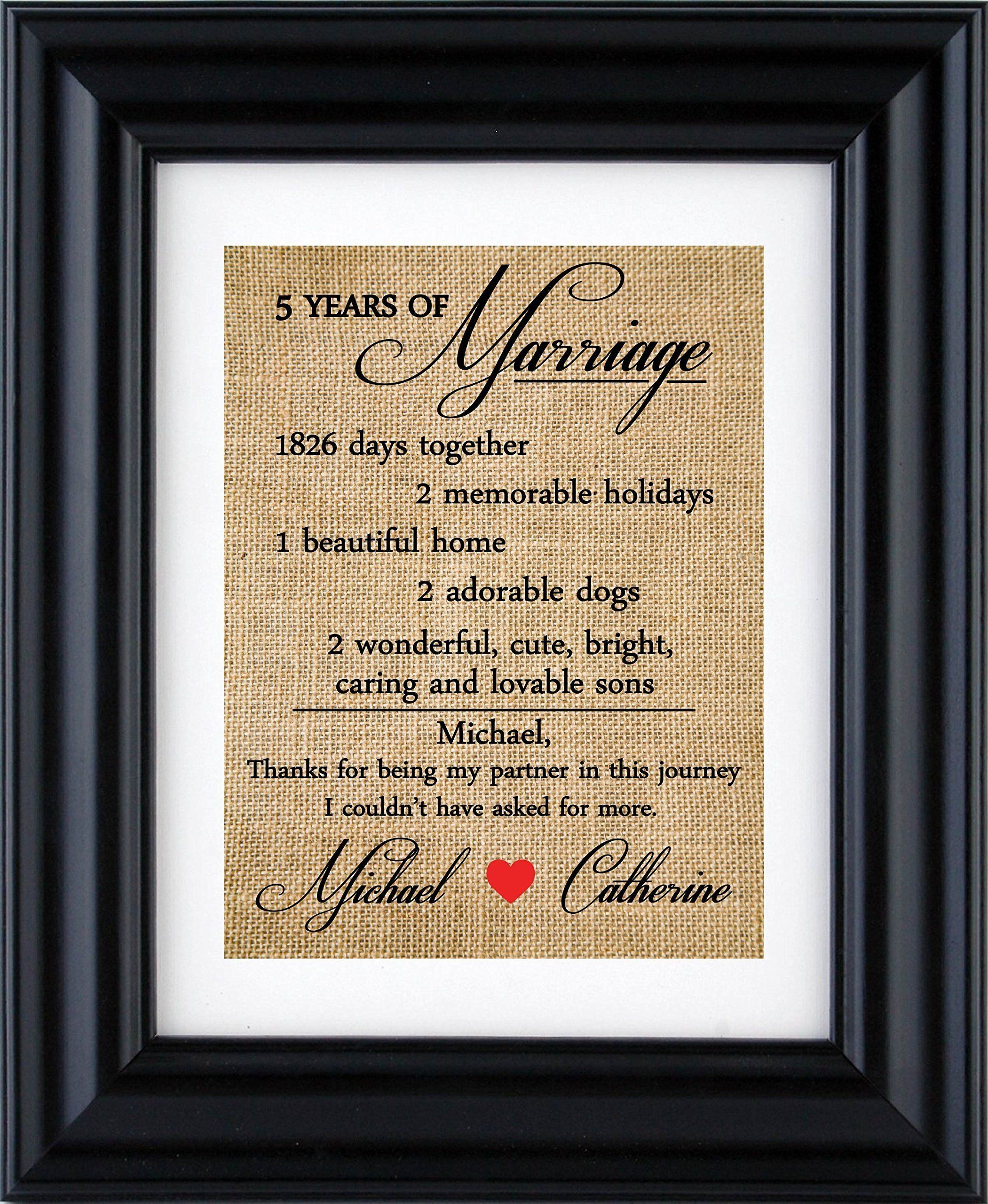 5th Anniversary Gift Personalized Anniversary Gift For 10th20th