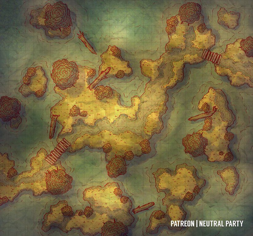 Swamp Path Dndmaps D D Maps In 2019 Pinterest Fantasy Map