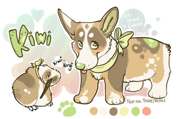 Kiwi By Colonels Corner Deviantart Com On Deviantart Dog Design