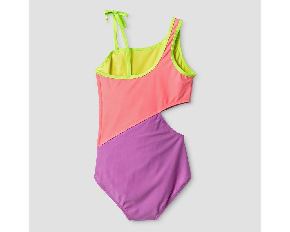 XOXO Girls One-Shoulder Ruffled 1pc Swimsuit  Size 4 5//6 6X 7 8//10 12//14 16