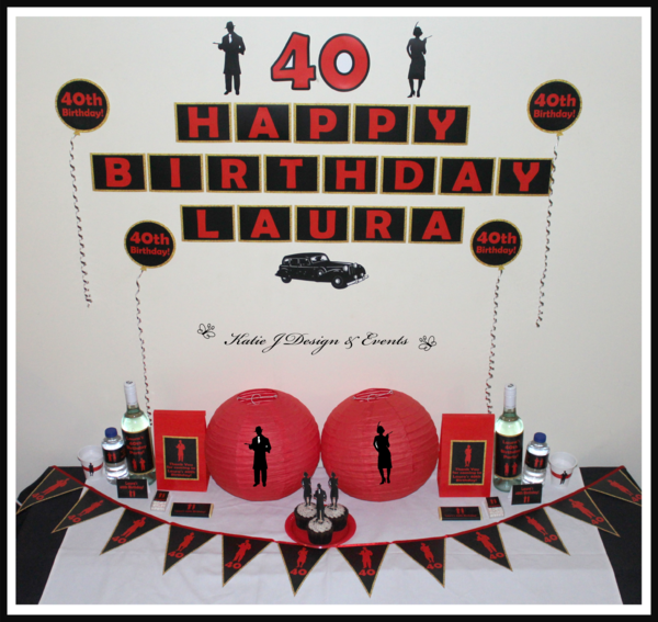 Shop Online PERSONALISED 1920s Party Decorations
