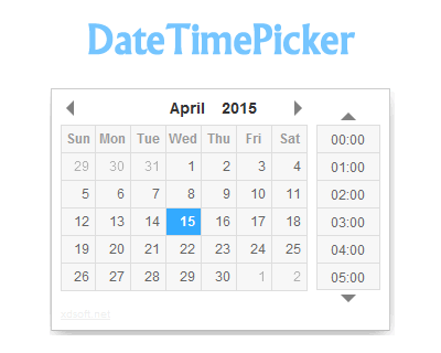 DateTimePicker – jQuery Date and Time Picker Plugin #jQuery