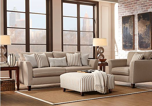 Picture Of East Shore Beige 3 Pc Living Room From Living Room Sets Furniture