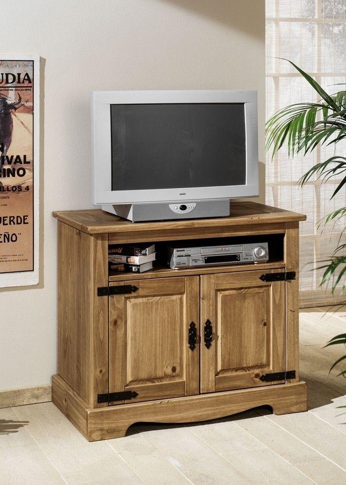 Landhaus TV-Schrank Mexican Henke Möbel Kiefer Massiv Antik 21130