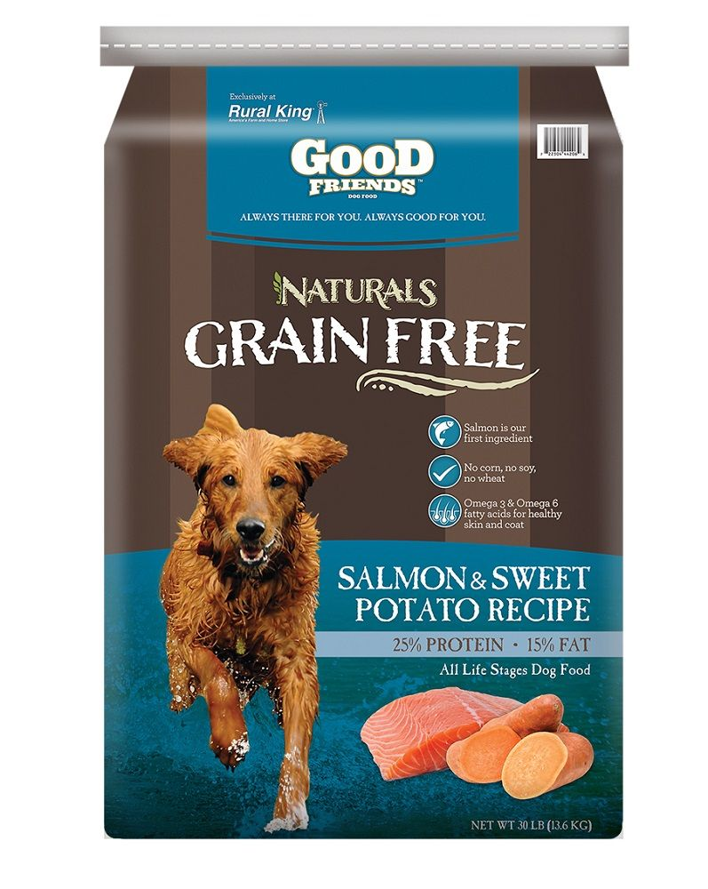 Good Friends Naturals Grain-Free Salmon and Potato Dog Food 30 lb ...