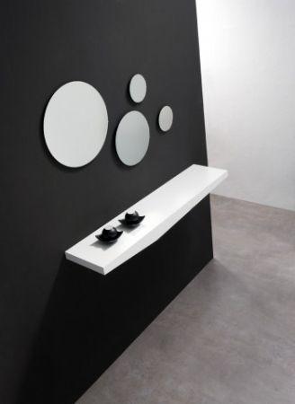 Estante para entradita 9 recibidor con espejos redondos for Recibidores modernos ikea