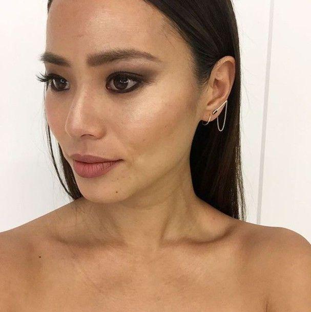 Jewels, Ear Cuff, Earrings, Jamie Chung, Make-up