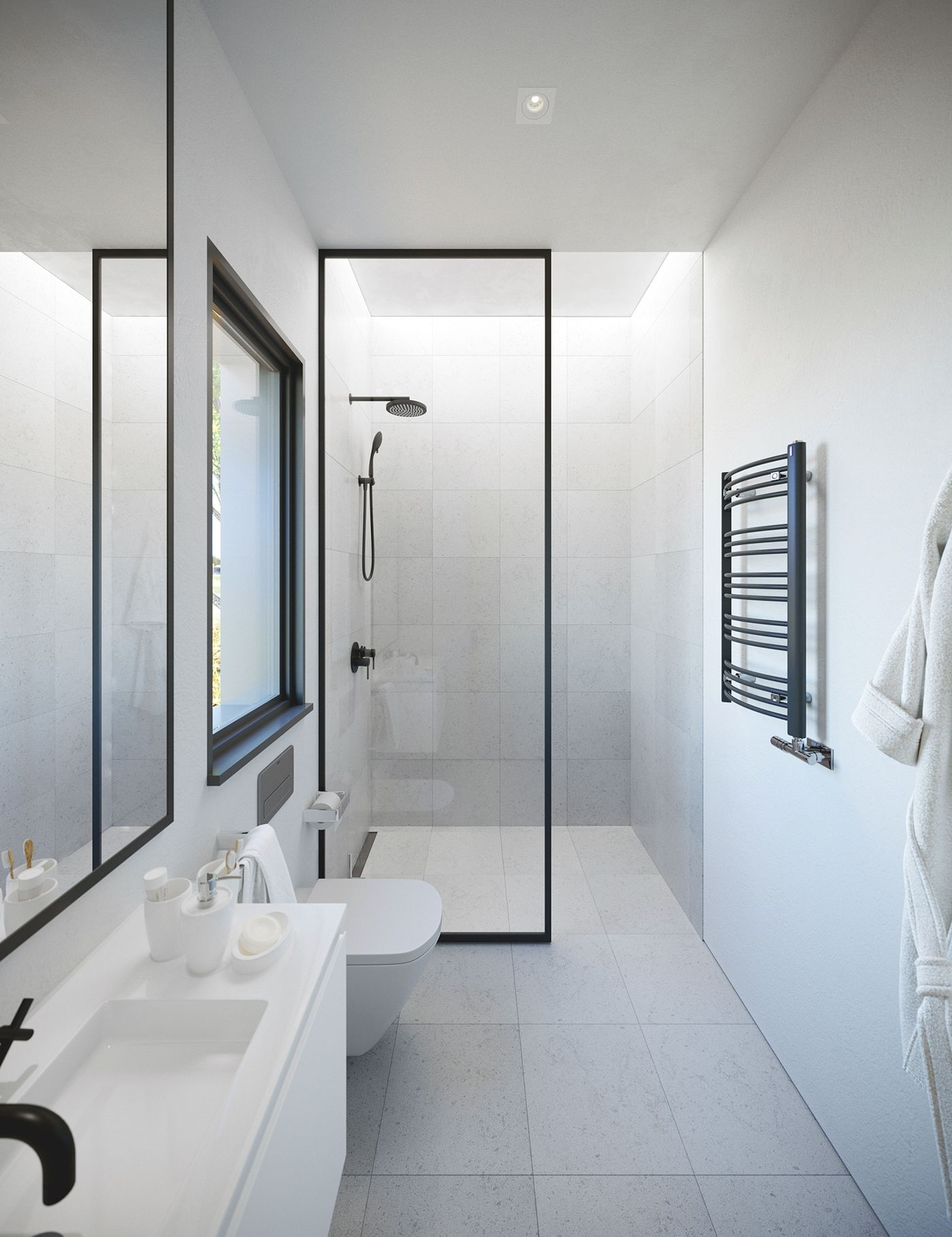 Villa In White On Behance Minimalist Bathroom Design Modern Bathroom Design Minimalist Bathroom