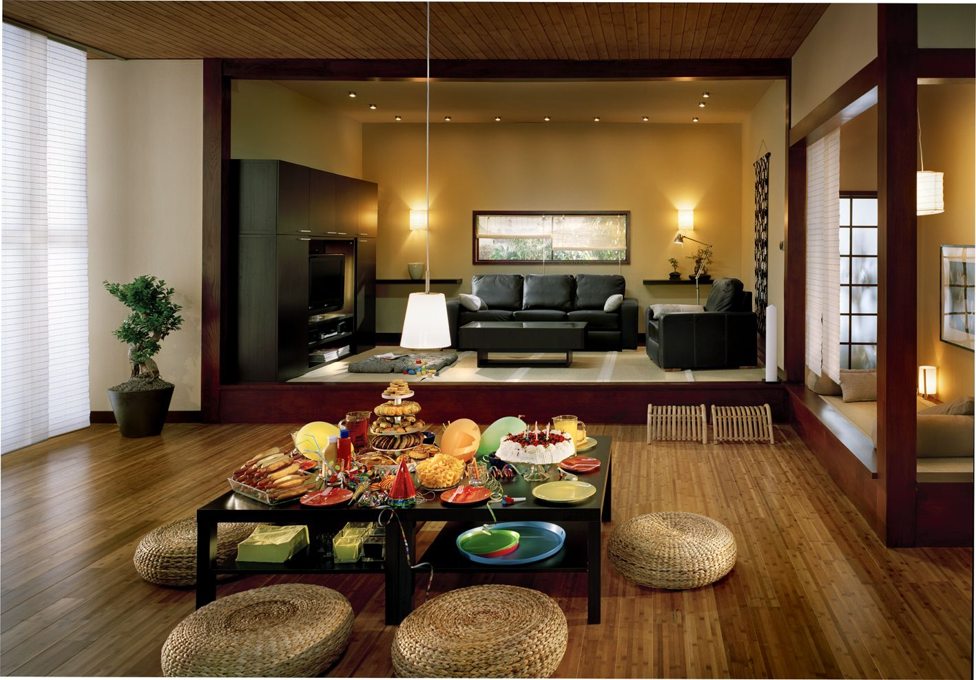 Overwhelming Open Plan Modern Japanese House Interior Decorating .