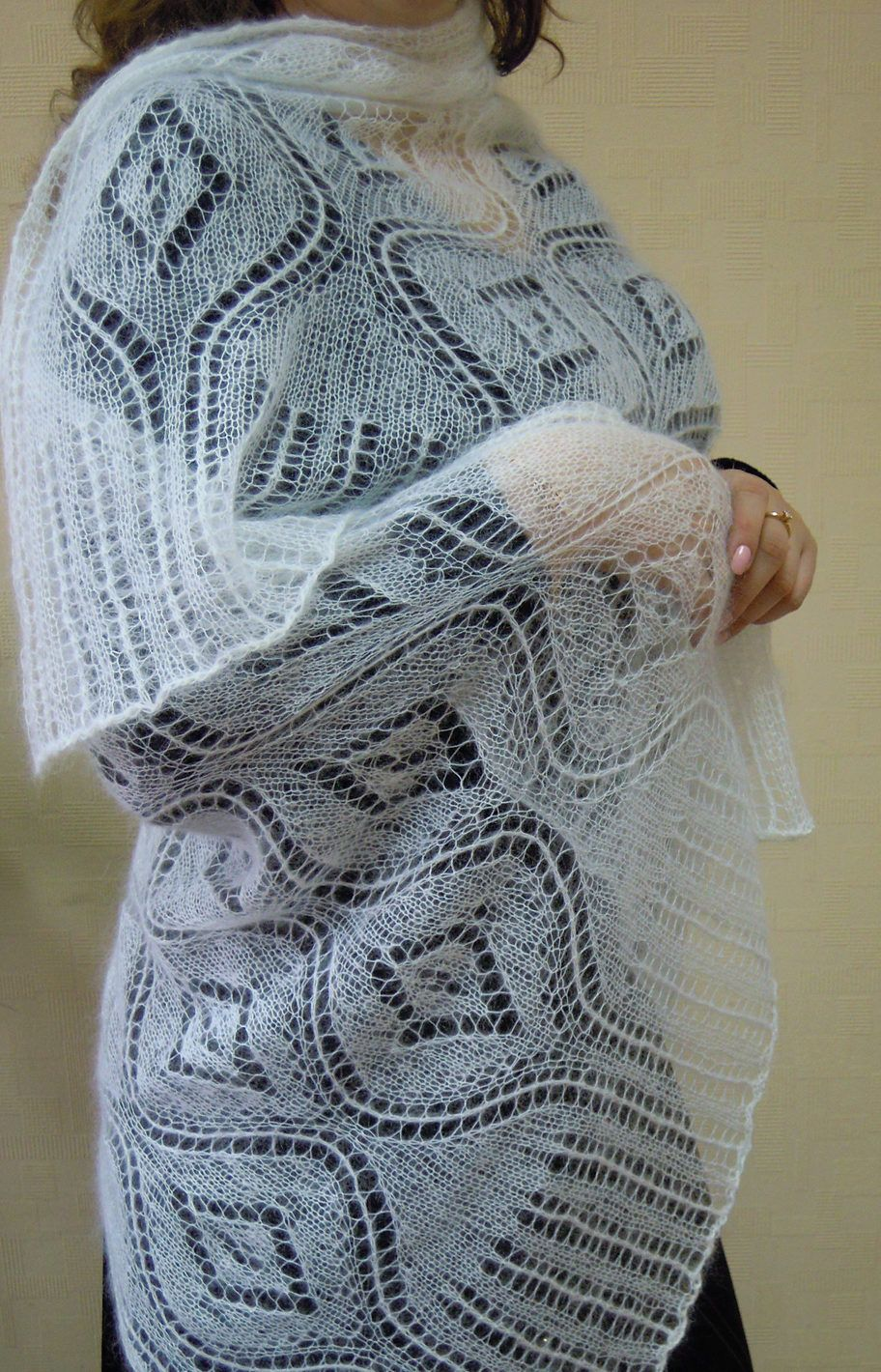 Free Knitting Pattern for Seascape Stole - Rectangular shawl with ...
