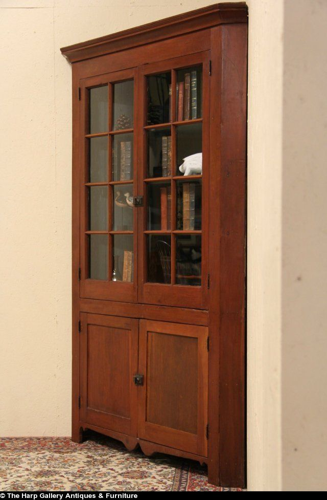 antique+corner+cupboards | Antique Corner Cupboard - Pennsylvania Cherry 1840 Antique Corner Cabinet Or Cupboard