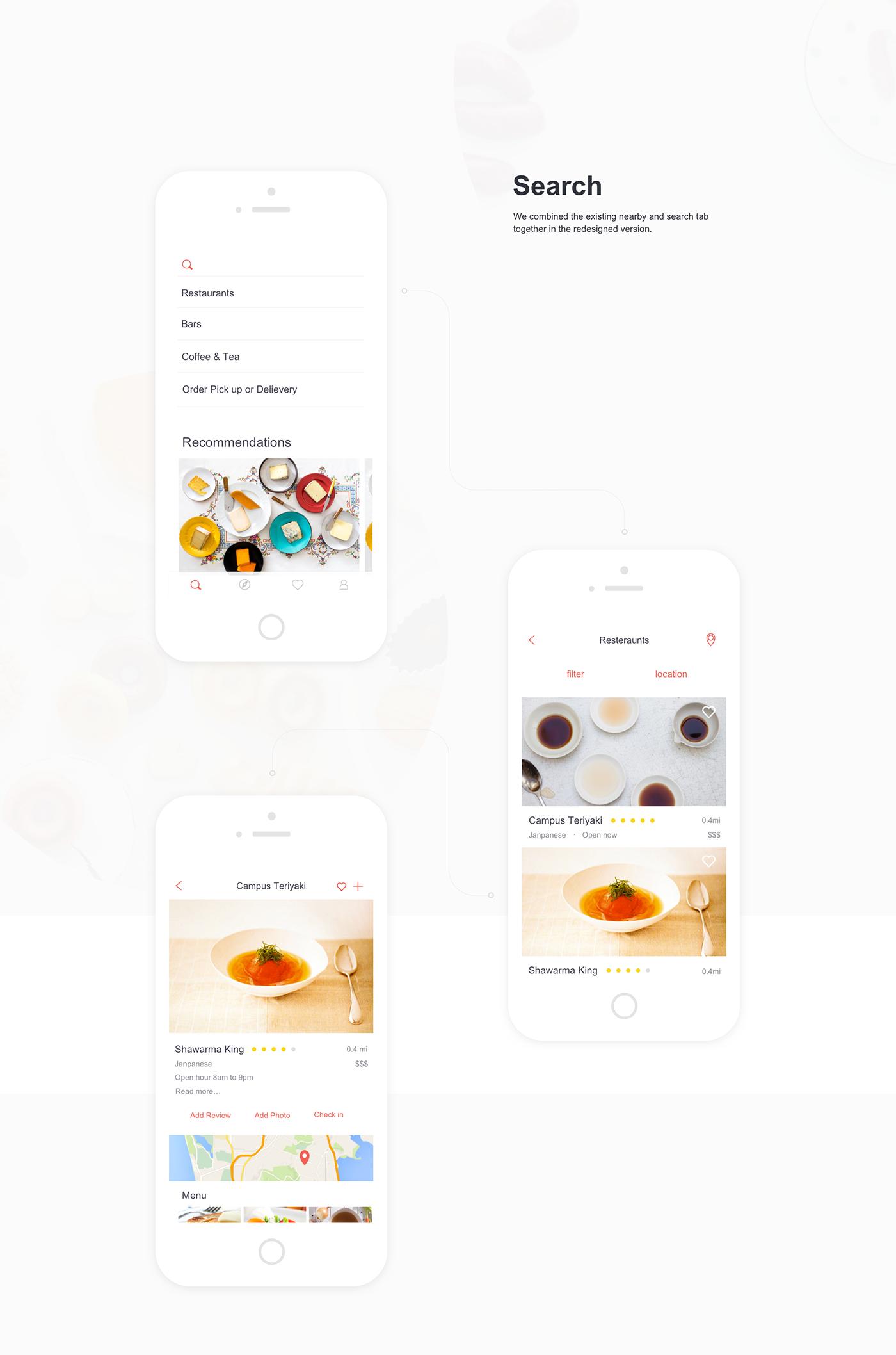 Yelp App Redesign on Behance