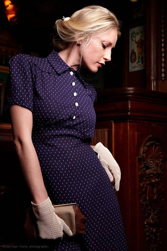 ba1aabacfff85a 40s Dress Marla in 2019 | vintage girl | 30er jahre kleider, 30er ...