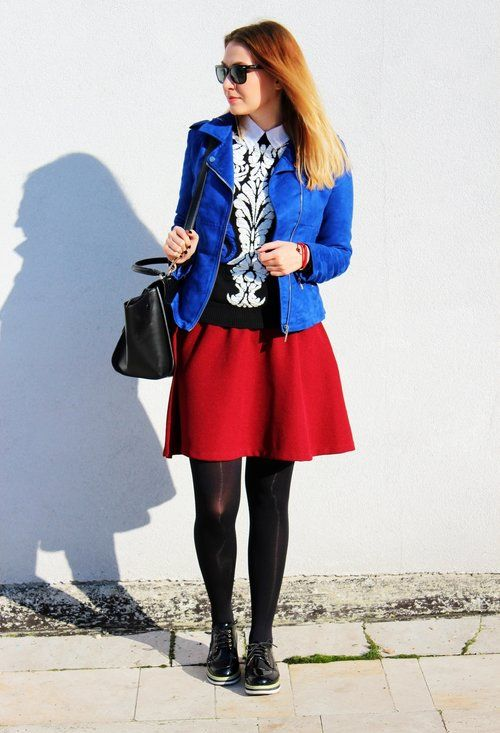 burgundy & blue sweater: http://www.sheinside.com/Black-Long-Sleeve-Baroque-Embossed-Knit-Sweater-p-147304-cat-1734.html