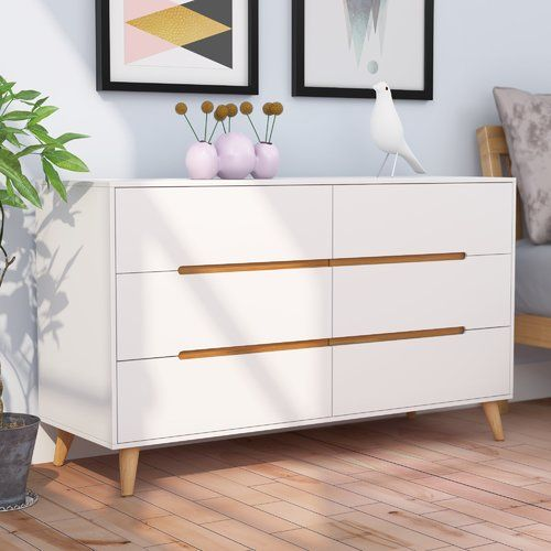 Hykkon Arledge 6 Drawer Chest Wayfair Co Uk Living Room Storage Furniture White Chest Of Drawers