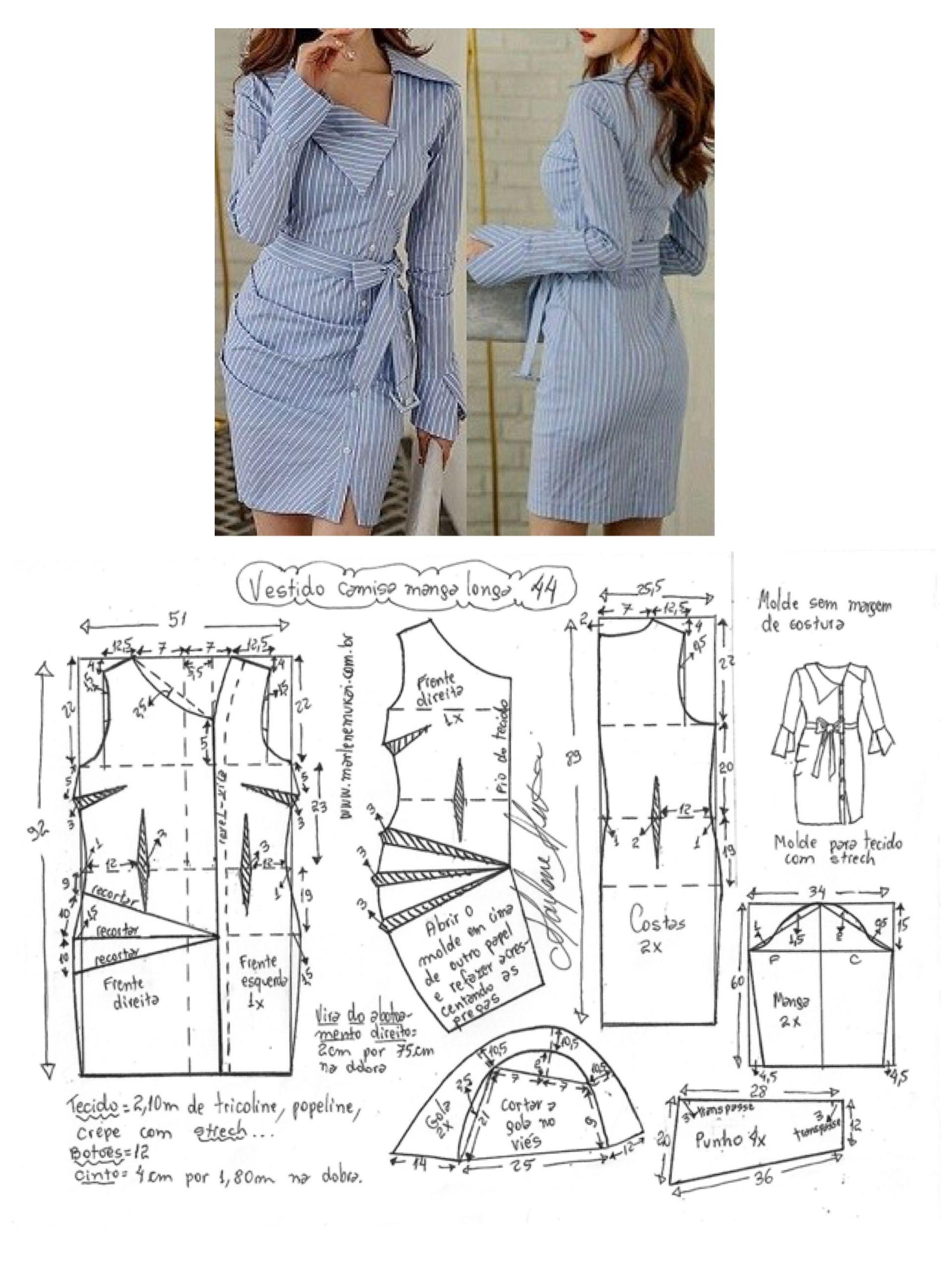 marlenemukai.com.br | Patron | Pinterest | Costura, Patrones y Molde
