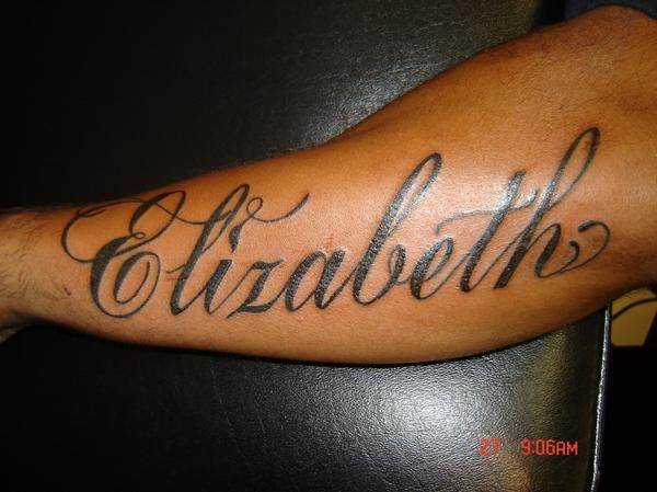 Elizabeth Tattoo Name On Arm Tattoomagz Com Tattoo Designs Ink Works Gallery Name Tattoos On Arm Name Tattoos Tattoo Designs