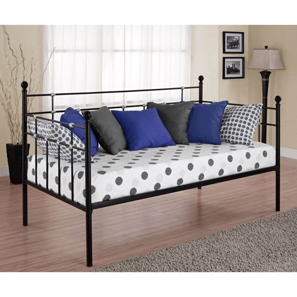 Twin Metal Daybed in Black Finish in 2020 Metal daybed