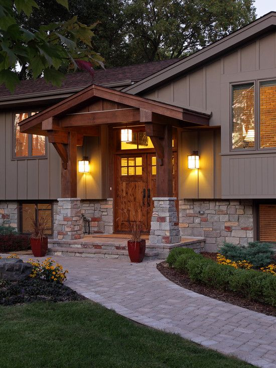 Gable front porch design pictures remodel decor and - Homes front porch designs pictures ...