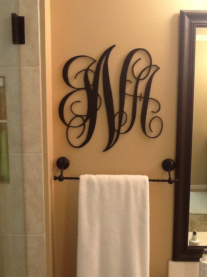 Large Wood Monogram Free shipping by PeachStateLiving on Etsy, $40.00